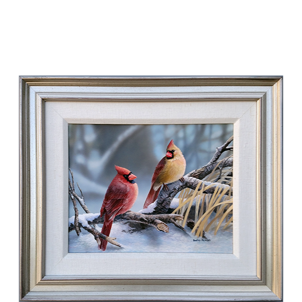 Cardinals at Dusk – original artwork