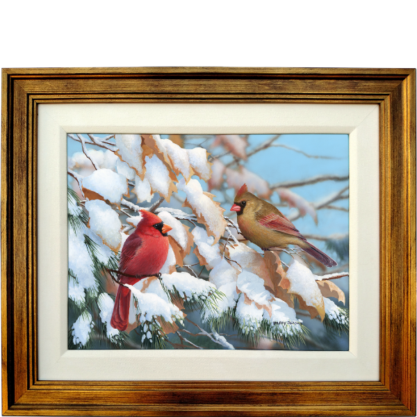 A Crisp Winter Day - Cardinals - original artwork
