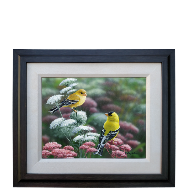 Gold & Lace - Goldfinches - original artwork