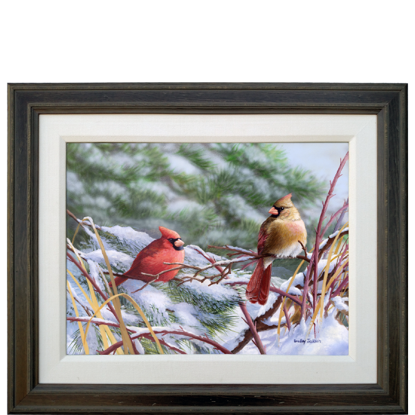 Winter Cardinals - original artwork